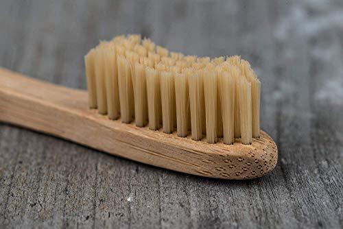 pandoo 4er-Sparset umweltfreundliche Hand-Zahnbürste | Für Erwachsene und Kinder (Mittel bis Weich) | Vegan, Bio, Holzfrei, BPA Frei | Bamboo Toothbrush - 9