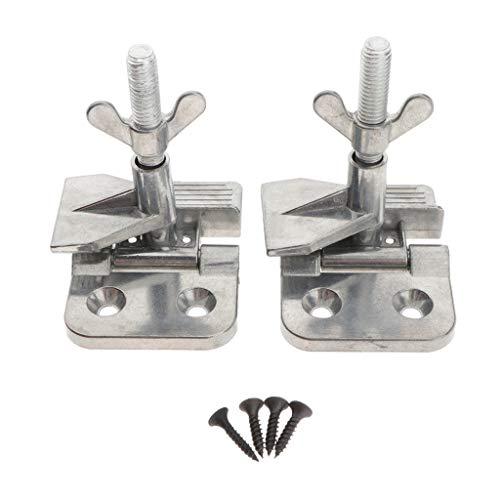Almencla 1 Paar Siebdruck Scharnier Schmetterling Klemme Rahmen mit 4 Schrauben Scharnierklammern für DIY Siebdruckrahmen, DIY Hobby Werkzeug - Silber