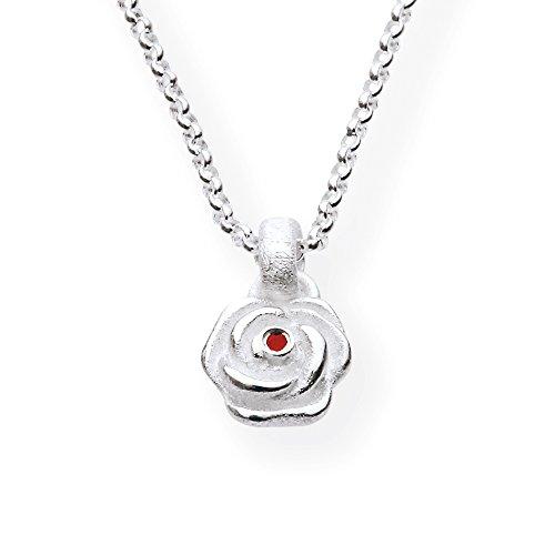 Heartbreaker Damen- Anhänger Hildegard k.925 Silber Brillantschliff Rubin rot LD HK 31 RP