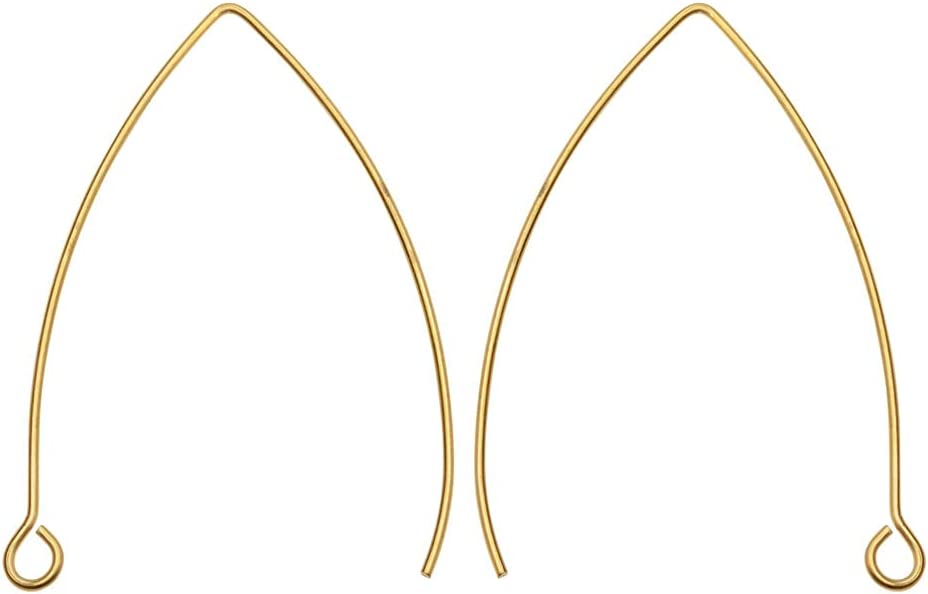 Beadaholique Earring Findings V-Shaped French Wire with Mail order Loo Ear Popular brand in the world