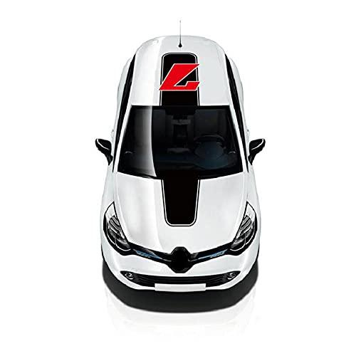 nasASLK Calcomanía de Vinilo para Techo de capó automático n. ° 7 gráficos Rayas Deportivas Accesorios de Coche Pegatinas Personalizadas de Motor de Carreras, para Renault Clio