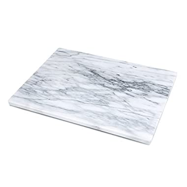 Kitchen Collection Marble Pastry Board 16 x12  - White