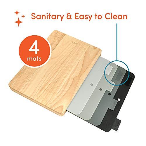 4 Easy-Clean Cutting Board Set