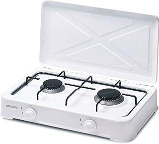 bastilipo cg-200–Plaque (Table, gaz, émaillé, rotatif, Front, 3150W) couleur blanc