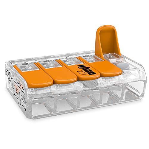 WAGO® Klemme, 5-Leiter, 4 mm², Verbindungsklemme mit Hebel, 221-415 (25 Stück)