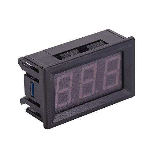 LED thermometer digitale temperatuurmeter DC 5~12 V digitale thermometer hoofdtemperatuurmeter met sonde voor ruimte, auto, auto, airconditioning, koelkast, blauw
