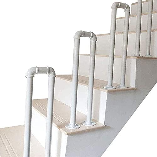 Barandilla de escalera antideslizante en forma de U, barandilla de escalera exterior, para escalera exterior o interior, barandilla de hierro para porche tipo loft,35cm