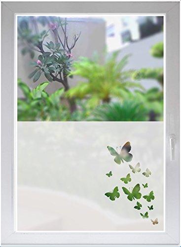 INDIGOS UG Fensterfolie Sichtschutzfolie Glasdekorfolie Schmetterlinge Butterflies satiniert Blickdicht ORACAL® - 1000mm Breite x 500mm Höhe - auch mit Individueller Breite