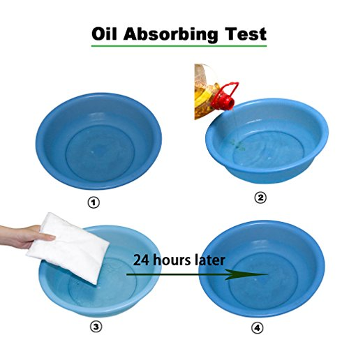 DEEPLITE Oil Absorber, Oil Absorbing Sponge for Hot Tubs Swimming Pools SPAs (Pack of 2)