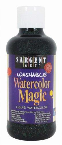 Sargent Art 22-9085 8-Ounce Glitter Watercolor Magic, Black