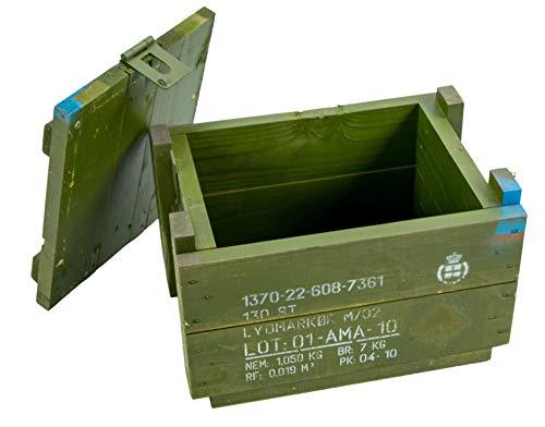 Kistenkolli Altes Land Dänische Munititionskiste Box M00 Holz-kiste-Truhe Schatzkiste Militärkiste - 3