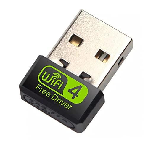 NiceCore USB Heall 150Mbps Mini Adaptador WiFi Controlador Wi Fi Dongle Tarjeta de Red Ethernet Receptor WiFi para el Ordenador portátil del PC de sobremesa