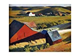 Spiffing Prints Edward Hopper - Cobb's Barns and Distant
