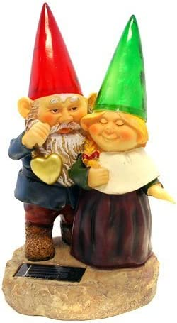 Gnomes holding hearts and Max Cheap mail order shopping 84% OFF flower Light Solar Powered with Garden