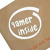 1x Gamer inside-window, coche, Van, adhesivo, señal, vehículo,...
