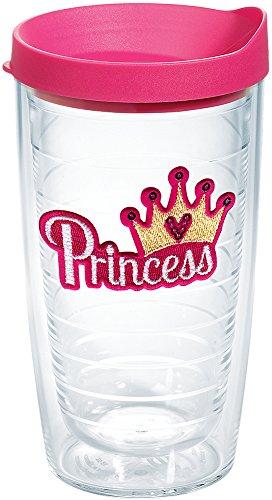 Tervis Princess – Copo isolado com lantejoulas, 473 ml, transparente – Tritan