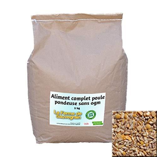 La Ferme Sauvegrain Aliment Complet pour Poules pondeuse Garanti sans OGM - 5 kg