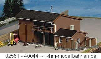 Kibri 9815 - Geräteschuppen mit Anbau und Gabelstapler