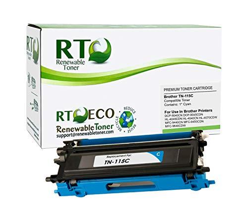 Renewable Toner Compatible Toner Cartridge Replacement for TN-115C TN115C DCP-9040 9045 MFC-9440 9450 9840 HL-4040 4070 (Cyan)