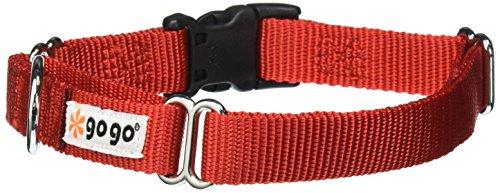GoGo Pet Products GoGo 3/4-Inch Martingale Dog Collar, Medium, Red