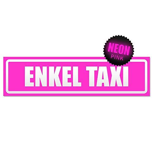 Kiwistar Panneau aimanté Motif Enkel Taxi, Rose Fluo, 60x16 cm