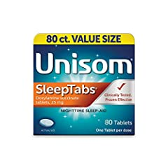 GET THE RESTFULL SLEEP YOU NEED: Unisom SleepGels are easy to swallow soft gels, without the chalky aftertaste of many sleep aids. Unisom uses a non-habit forming antihistamine to encourage drowsiness, so you fall asleep faster & wake up feeling refr...