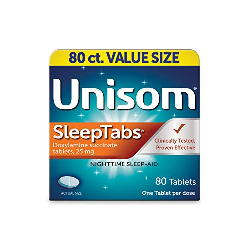 Unisom SleepTabs, 80 Count, Non-Habit Forming...
