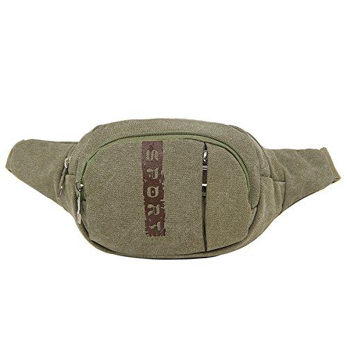 ZYT Sacs à main sac à dos de toile casual male poitrine Pack hommes vintage de sacs à main épaule mouvement boulettes d'équitation . army green