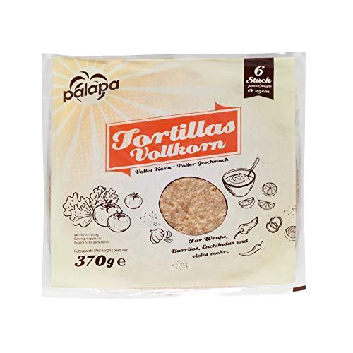 Palapa Vollkorntortilla frisch | 25cm | 6 Stk. | aus Vollkornmehl | Tex-Mex-Küche | Für viele Gerichte geeignet | Hervorragender Geschmack