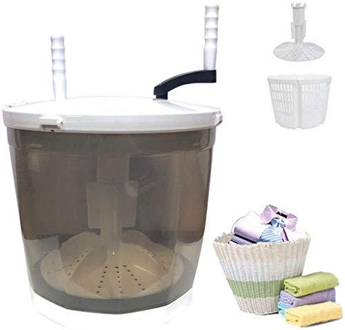 Mini lavadora portátil, secadora rotativa manual compacta no eléctrica, pequeña lavadora combinada...