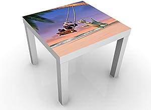 Urmel Voll in Fahrt diseño Mesa/Palma árbol Swing 55x 45x 55cm Mesa Auxiliar, Mesa de café, diseño de, habitación de los niños, dragón, Oso Panda–Jungle Adventure