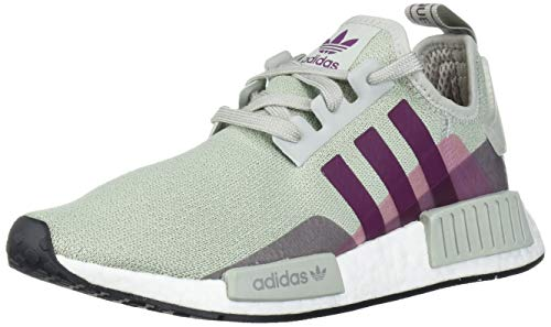 adidas Originals Women's NMD_r1, ash Silver/Purple Beauty/Shock Pink, 7.5 M US