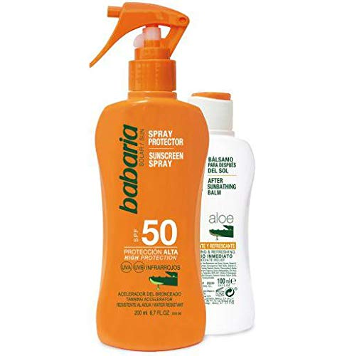 BABARIA pack protector solar spf 50 + bálsamo after sun calmante 100 ml