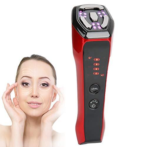 Máquina facial de radiofrecuencia, masajeador facial de microcorriente 6 en 1, estiramiento facial con radiofrecuencia de 5 LED, reducción de arrugas y estiramiento de la piel