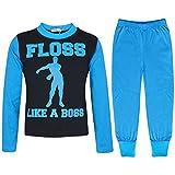 A2Z 4 Kids Bambini Ragazze Ragazzi Blu Pigiama di Moda - Pjs Floss Like A Boss Blue_11-12