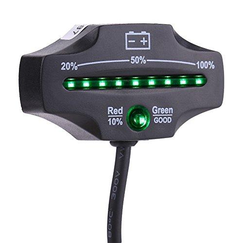 Qiilu LED Batterie Indicateur Indicateur Jauge Système de Charge Moniteur pour Moto Voiture Marine ATV Camion 12 V 24 V