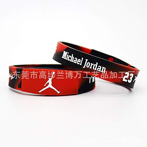 Xi-Link AJ Basketball Trapez Mythologie Gedenk Sektion Basketball Silikonarmband Handgelenkband (Color : B19cm)