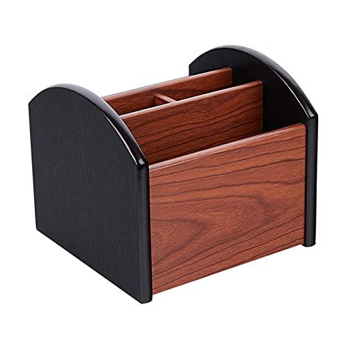 ZXQC Caja De Almacenamiento De Madera, Organizador De Escritorio De Oficina Multifuncional para Tijeras De Pluma De Papelería