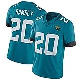 NCNC # 20 Maillots de Rugby Jacksonville Jaguars Ramsey pour Hommes et Femmes, Broderie Fan Edition T-Shirt de Football américain Football Sportswear (S-XXXL)-Blue-XXL