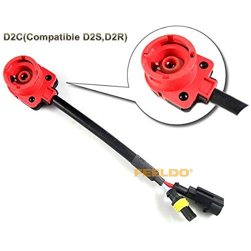 Feeldo HID Xenon ampoule D2S/D2R/D2 C Harnais câblage adaptateur Douille
