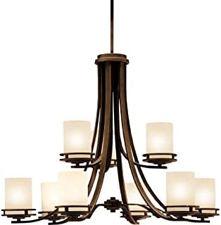 kichler hendrik 9 light chandelier