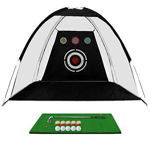 Yhjkvl Red de golf portátil de virutas de golf red de entrenamiento de golf de ayuda golpear práctica de golf red red de entrenamiento interior al aire libre