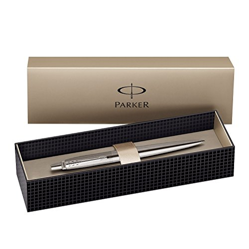 Parker Jotter Kugelschreiber Geschenk-Box Stainless Steel Chrome Trim Black Ink