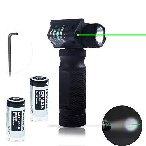 LED Tactical Flashlight 600 Lumen Super Bright Dot Handheld Flashlight with 20mm Guide Rail Mount, 2 Modes Lighting Anti-Slip Silicone LED Flashlight