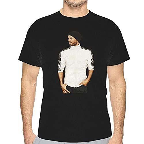 Enrique Iglesias Men's Short Sleeve Cozy T-Shirt Round Neck Tee Top