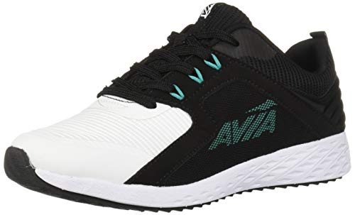 Avia Women's Avi-Ryder Sneaker, Black/White/Spectra Green, 10 Medium US