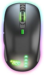 Keep Out Gaming X9CH - Ratón (hasta 8200 dpi), 6 Botones, USB, Cable Nylon 1'8 Metros, Iluminación Led RGB, Ambidiestro, Color Negro y Verde