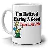N\A Taza Divertida de los Regalos de la mordaza de la jubilación para los Jubilados Estoy Jubilado ¡Pasar un Buen rato es mi Trabajo, Impreso en Ambos Lados!