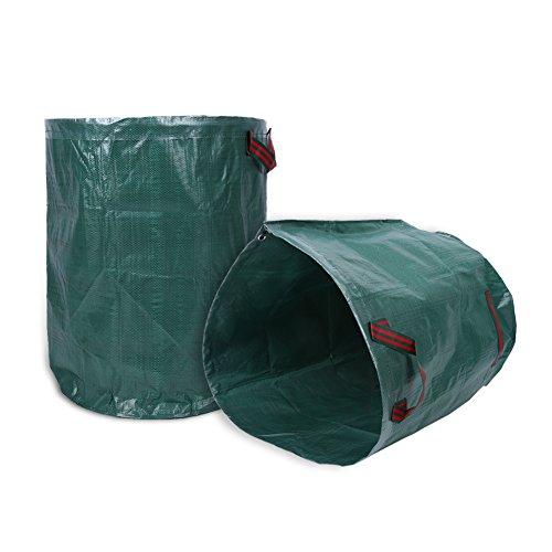 Cocoarm 2 x Gartensack, 300L Gartenabfallsack aus robuste PP - selbststehend und faltbar - Abfallsäcke für Gartenabfälle Laub Rasen Pflanz Grünschnitt