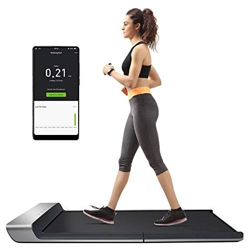 Cinta de correr, Walking Pad A1, cinta de correr plegable, cinta de correr para / cinta de correr para la oficina y el hogar, control de velocidad adaptativo, control remoto, 3 modos , 760W, 220V